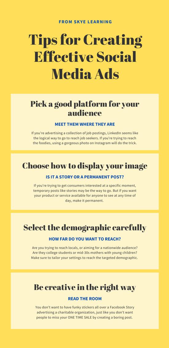 Effective social media ads